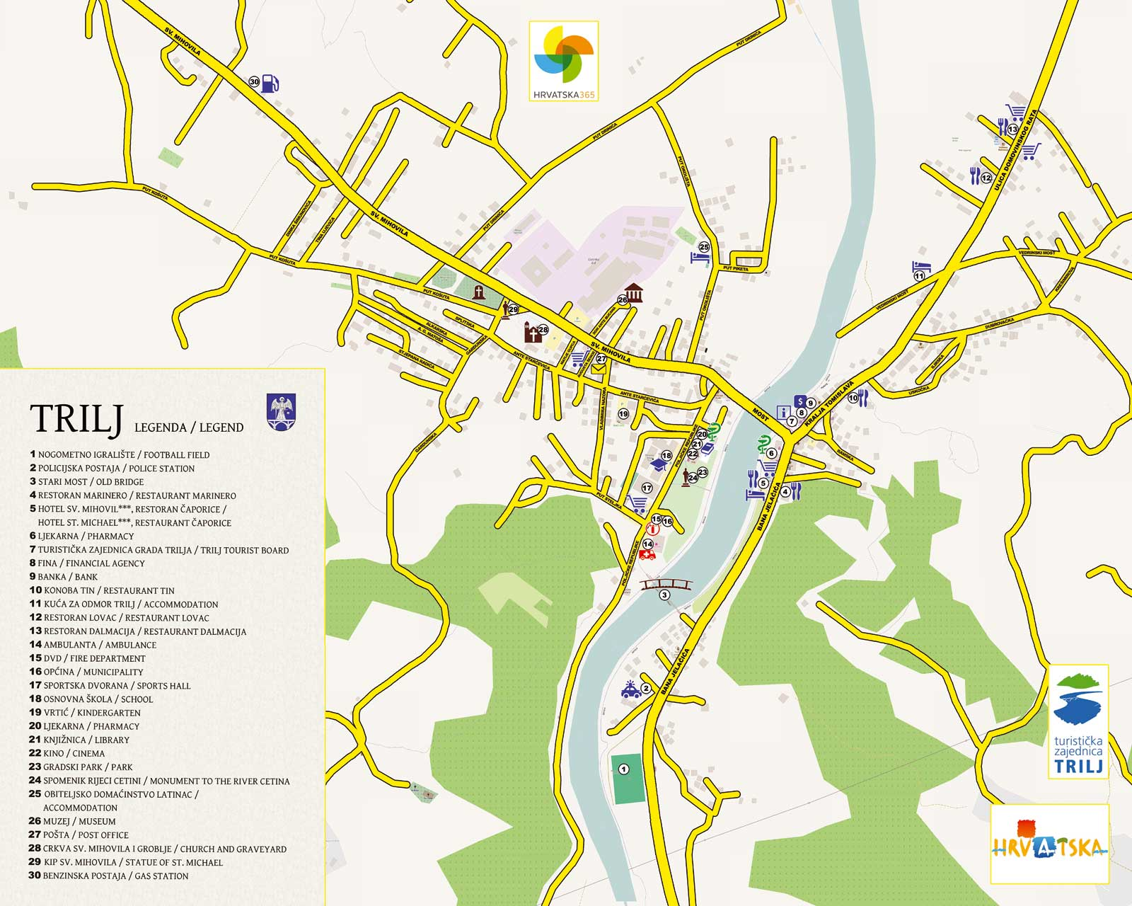 Trilj City Map